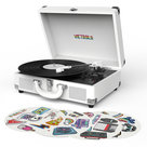 View Larger Image of Canvas Bluetooth Suitcase Record Player