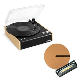 Eastwood 3-Speed Dual-Bluetooth Hybrid Turntable with Record Care Kit