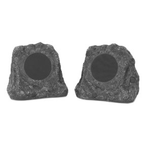 Innovative Technology Pair of Wireless Waterproof Rechargeable Bluetooth Outdoor Rock Speakers