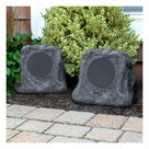 View Larger Image of Innovative Technology Pair of Wireless Waterproof Rechargeable Bluetooth Outdoor Rock Speakers