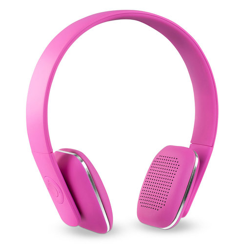 View Larger Image of Innovative Technology Rechargeable Wireless Bluetooth Headphones - Pink