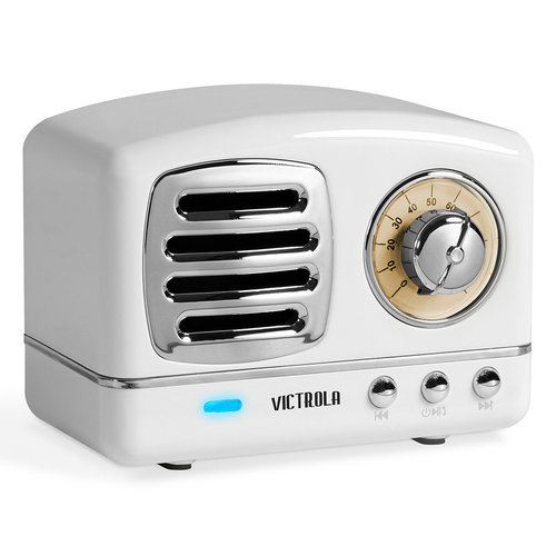 View Larger Image of Lily Mini Bluetooth Stereo with FM Radio (White)