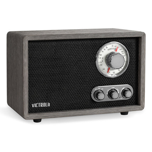 View Larger Image of Linden Wood Bluetooth Radio (Gray)