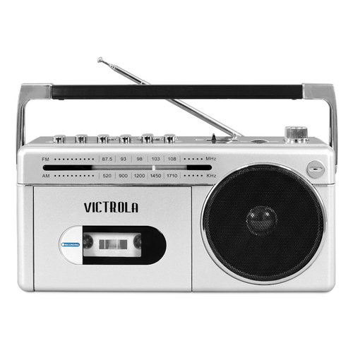 View Larger Image of Mini Bluetooth Boombox with Cassette Player, Recorder and AM/FM Radio