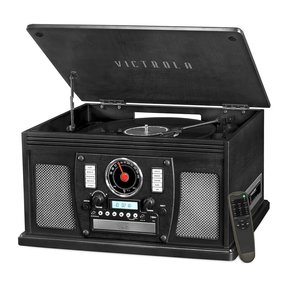 Navigator 8-in-1 Classic Bluetooth Record Player with USB Encoding and 3-speed Turntable