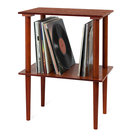 View Larger Image of Navigator Bluetooth Record Player with Matching Record Stand (Mahogany)