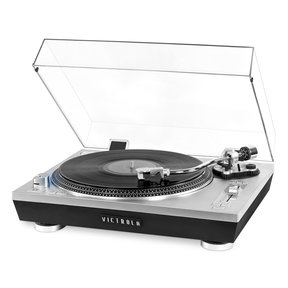 Pro Series USB Record Player with 3-Speed Turntable and Dust Cover