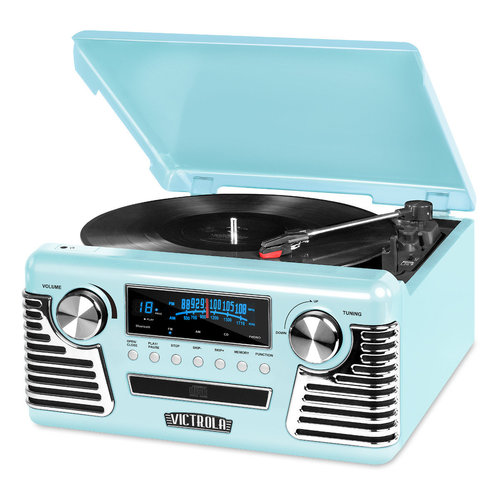 View Larger Image of Retro Record Player with Bluetooth and 3-speed Turntable