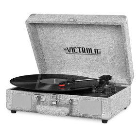 The Journey Bluetooth Suitcase Record Player with 3-speed Turntable