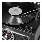 View Larger Image of The Plaza 4-in-1 Nostalgic Bluetooth Record Player with 3-Speed Turntable and FM Radio (Black)