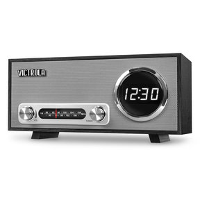 VC-100 Bluetooth Digital Clock Stereo with FM Radio and USB Charging