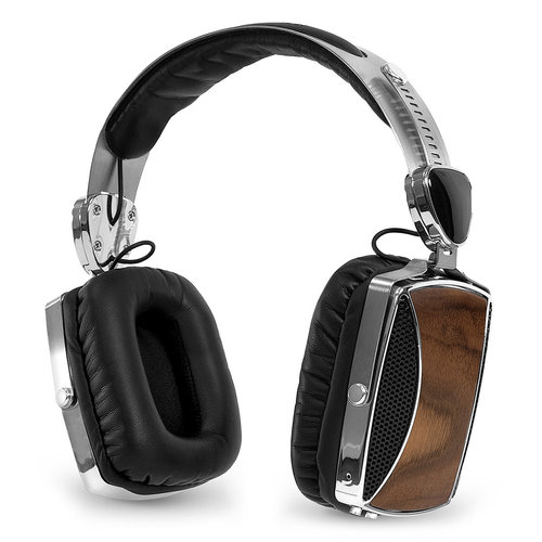 View Larger Image of VSG-160 Wood and Chrome Rechargeable Bluetooth Headphones