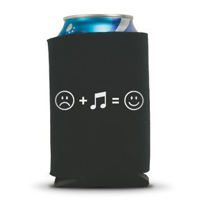 Music Makes Us Happy Beverage Can Koozie