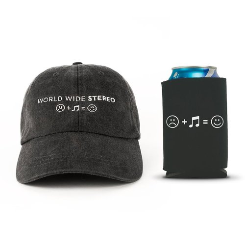 View Larger Image of Music Makes Us Happy Cap and Beverage Can Koozie