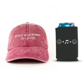 Music Makes Us Happy Cap and Beverage Can Koozie