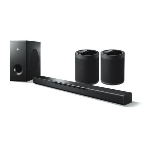 View Larger Image of MusicCast BAR 400 Sound Bar with Wireless Subwoofer and WX-021 MusicCast 20 Wireless Speakers - Pair