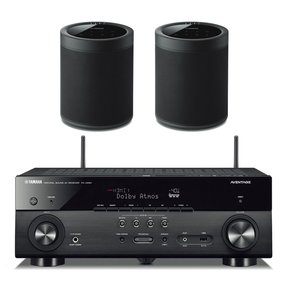 RX-A680 AVENTAGE 7.2-Channel AV Receiver with Pair of WX-021BL MusicCast 20 Wireless Speakers (Black)