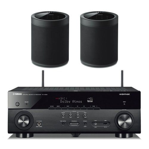 View Larger Image of RX-A680 AVENTAGE 7.2-Channel AV Receiver with Pair of WX-021BL MusicCast 20 Wireless Speakers (Black)