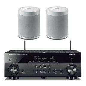 RX-A680 AVENTAGE 7.2-Channel AV Receiver with Pair of WX-021BL MusicCast 20 Wireless Speakers (White)