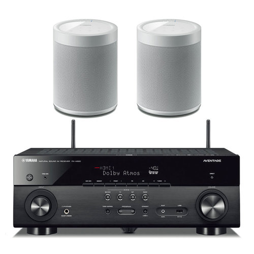 View Larger Image of RX-A680 AVENTAGE 7.2-Channel AV Receiver with Pair of WX-021BL MusicCast 20 Wireless Speakers (White)